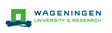Logo van Wageningen University & Research.
